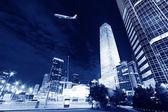 ночные сцены пекине финансовый центр района — Стоковое фото