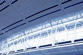 Industrial production workshop roof steel beam — Stock Photo