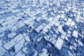 Brick paved ground — Stock Photo