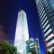 Night scenes of beijing financial center district — Стоковая фотография