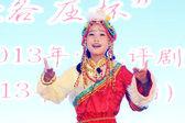 Rendimiento de ópera de Pekín de los niños en el escenario — Foto de Stock