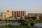 City architecture landscape under the blue sky — Stock Photo