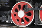 Steam locomotive wheels — Stock Photo
