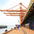 Lifting machinery and equipment in Iron Ore Wharf — Foto de Stock