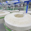 Cotton group on a spinning production line — Stock Photo