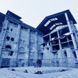 Stock Photo: Dilapidated building in factory