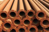 Průřez pro bezešvé ocelové trubky — Stock fotografie