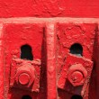 Stock Photo: Red cast iron part