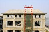Beton gieten gebouw — Stockfoto