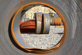 Hot rolled strip steel in a factory — Stock fotografie