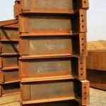Steel plate member oxidation rust — Stock Photo #35031621