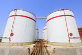 Storage tanks in a chemical plant — Stock Photo