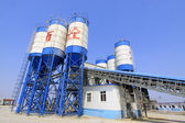 Commercial concrete mixing station — Stock Photo