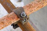 Rusty metal scaffolding elements — Stock Photo