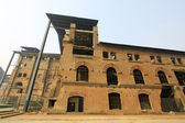 Dilapidated building in a factory — 图库照片