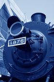 Head of steam locomotive — Stock Photo