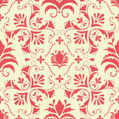 Vector damask seamless pattern element. Elegant luxury texture for wallpapers, backgrounds and page fill. — Stok Vektör