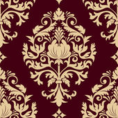 Vector damask seamless pattern element. Elegant luxury texture for wallpapers, backgrounds and page fill. — Stock Vector