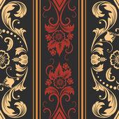Nahtlose damastmuster vektorelement. elegante luxus-textur für wallpaper, hintergründe und seite ausfüllen. — Stockvektor