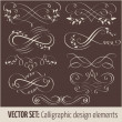 Stock Vector: Vector set of calligraphic design elements and page decoration elements