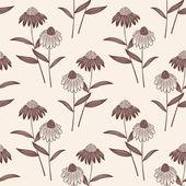 Vector bloem naadloze patroon achtergrond. elegante textuur voor achtergronden. — Stockvector