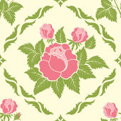Vector flower seamless pattern element. Elegant texture for backgrounds. — Stock Vector