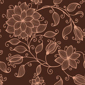Vector flower seamless pattern element. Elegant texture for backgrounds. — ストックベクタ