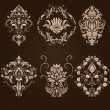 Vector set of damask ornamental elements. — Stock Vector #32827993