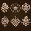 Vector set of damask ornamental elements. — Stock Vector #32827995