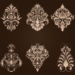Vector set of damask ornamental elements. — Stock Vector #32828069