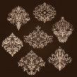 Vector set of damask ornamental elements. — Stock Vector #32828077