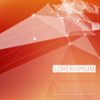 Abstract vector background. Futuristic style card. In red and orange colors. — Image vectorielle