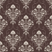 Vector damask seamless pattern background. Elegant luxury texture for wallpapers, backgrounds and page fill. — Vector de stock