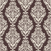 Vector damask seamless pattern background. Elegant luxury texture for wallpapers, backgrounds and page fill. — ストックベクタ