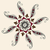 Vector de elementos florales abstractos en estilo mehndi indio. henna ilustración vectorial abstracto floral. elemento de diseño. — Vector de stock