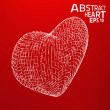 Abstract heart vector background. — Stock Vector #46656601