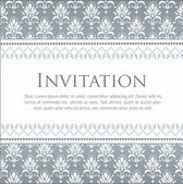 Vector invitation card with pattern — Cтоковый вектор