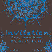 Vector invitation card with floral element — Wektor stockowy