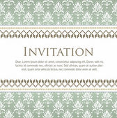 Carta di invito vettoriale con modello eps10 — Vettoriale Stock