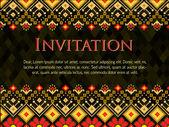 Cartão de convite de vetor com padrão eps10 — Vetor de Stock
