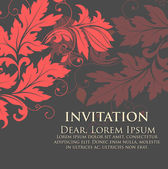Convite ou cartão de casamento com fundo de flor — Vetor de Stock