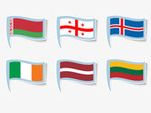 Vector flags — Stok Vektör