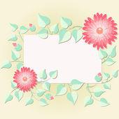 Cartão do convite floral — Vetor de Stock