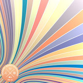 Vector abstract background with curled stripes — Cтоковый вектор