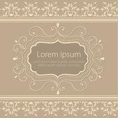 Convite ou cartão de casamento com elegante floral — Vetor de Stock
