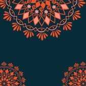 Vector vintage background with floral elements — Stockvector