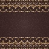 Invito o carta per il matrimonio con elegante floreale — Vettoriale Stock