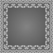 Vector fine floral square frame. — Wektor stockowy