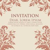 Invito o carta con sfondo fiore di nozze — Vettoriale Stock