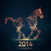 2014 kinesiska nyåret av hästen — Stockvektor